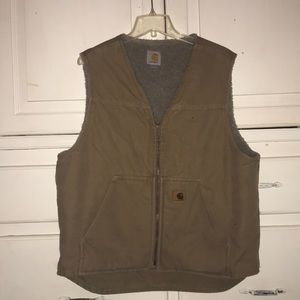 A Carhartt large winter vest